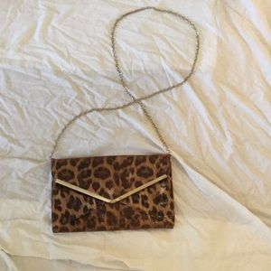 Leopard Envelope Clutch/crossbody